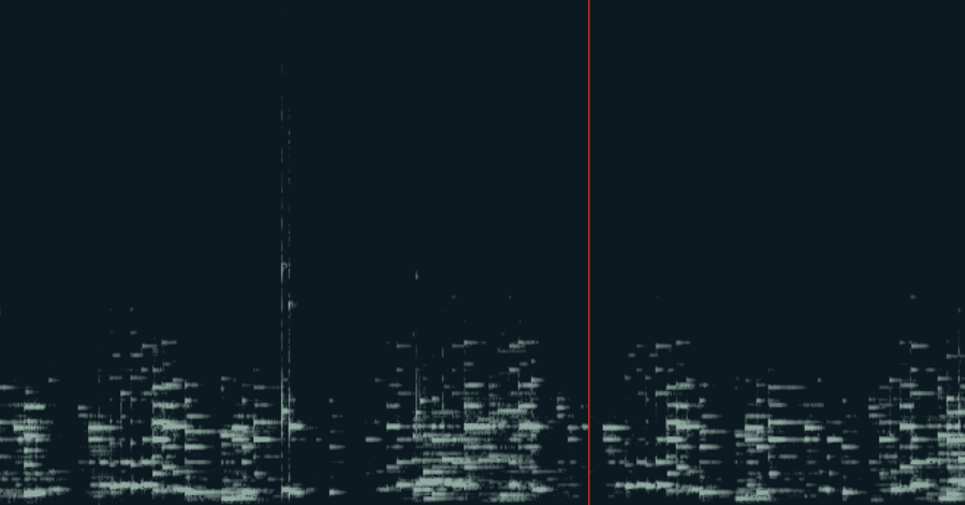 A screenshot of the Spectrogram experiment